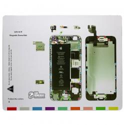 Магнитный коврик для ремонта iPhone 6, с картой винтов и запчастей
