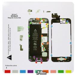 Магнитный коврик для ремонта iPhone 5, с картой винтов и запчастей