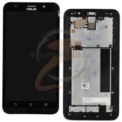 Дисплей для Asus ZenFone 2 (ZE551ML), черный, с сенсорным экраном (дисплейный модуль),с передней панелью, TM FHD
