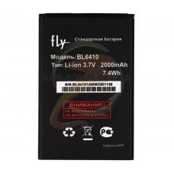 Аккумулятор (акб) BL6410 для Fly TS111, (Li-ion 3.7V 2000mAh), original, #3.H-7201-CF910A13-AX0/3.H-7201-CF910A13-AX1