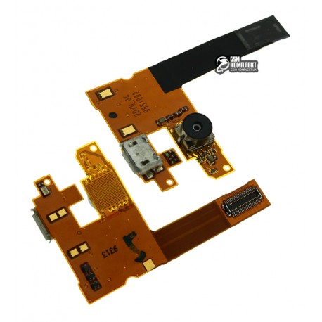 Шлейф для Nokia 6500c, оригинал, динамика, коннектора зарядки, с камерой, с компонентами, (0269839)