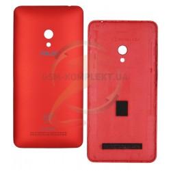 Задняя панель корпуса для Asus ZenFone 5 (A501CG), красная, с боковыми кнопками