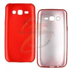 Чехол защитный для Samsung J500 Galaxy J5, J500F/DS, J500H/DS, J500M/DS, силиконовый, красный
