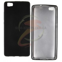 Чехол защитный для Huawei P8 Lite, матовый силиконовый, черный