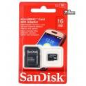 Карта пам яті 16 Gb microSDHC SanDisk, class 10, UHS