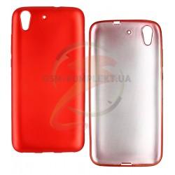 Чехол защитный для Huawei Y6 ||, матовый силиконовый, красный