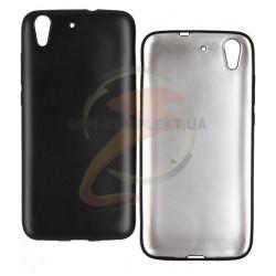 Чехол защитный для Huawei Y6 ||, матовый силиконовый, черный