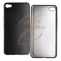 Чехол защитный для Meizu U20, матовый силиконовый, черный