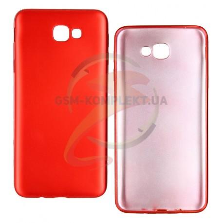 Чехол защитный для Samsung G570F Galaxy J5 Prime, силиконовый, матовый, красный
