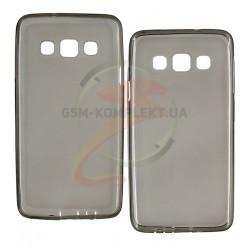 Силиконовый чехол для Samsung A300F Galaxy A3, A300FU Galaxy A3, A300G Galaxy A3, A300H Galaxy A3, серый, прозрачный