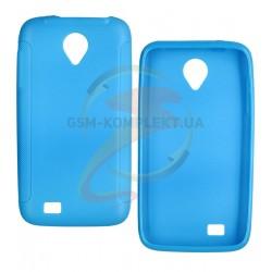 Чехол защитный для Lenovo S750, силиконовый, голубой