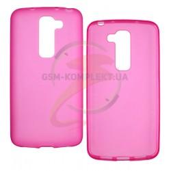 Чехол защитный для LG D618 G2 mini, силиконовый, розовый