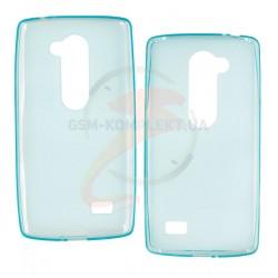 Чехол защитный для LG Leon/ Y50/ H324, силиконовый, голубой