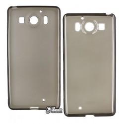 Чехол защитный для Nokia 950, силиконовый, прозрачный, черный