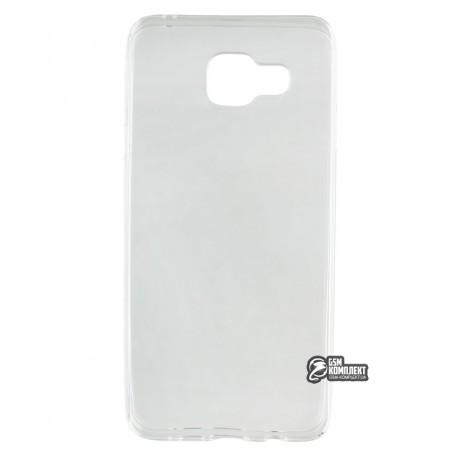 Чехол защитный для Samsung A310 Galaxy A3 (2016), силиконовый, прозрачный