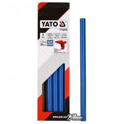 Термоклей синий Yato YT-82435, D 11.2 мм, длинна 20 см, 5 шт