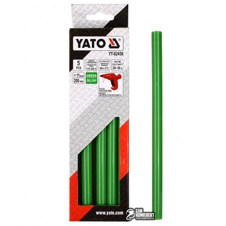 Термоклей зеленый Yato YT-82436, D 11.2 мм, длинна 20 см, 5 шт
