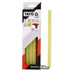 Термоклей желтый Yato YT-82437, D 11.2 мм, длинна 20 см, 5 шт