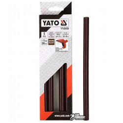 Термоклей коричневый Yato YT-82439, D 11.2 мм, длинна 20 см, 5 шт