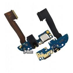 Шлейф для HTC One M8 Dual SIM, One M8e, микрофона, коннектора зарядки, с компонентами