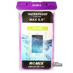 Сумка Romix RH11 Fluorescent Waterproof Bag with Touch Control max 5.5' Purple
