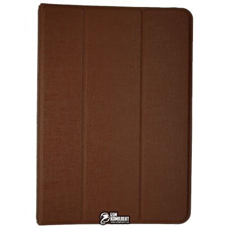 Чехол-книжка, универсальная для планшета 7, коричневая (с механизмом)