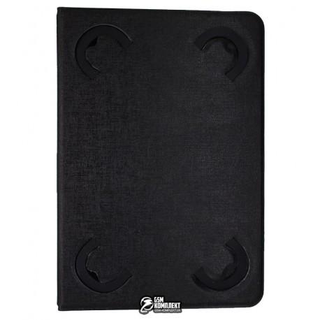 Чехол-книжка, универсальная для планшета 7, черный (с механизмом)