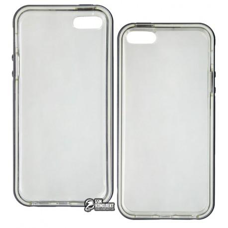 Бампер TOTO Aluminum +TPU bumper case iPhone 5/5s Grey