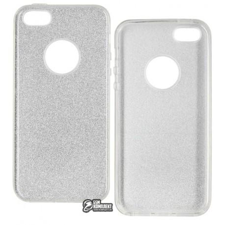 Чехол-накладка TOTO Rose series iPhone 5/5s/SE Silver