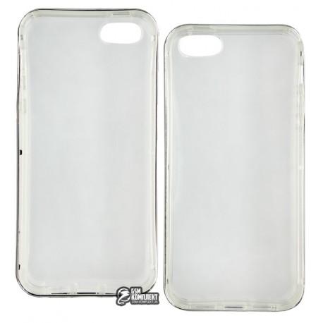 Чехол-накладка TOTO TPU Case+PC Bumper iPhone 5/5s прозрачный