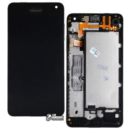 Дисплей для Nokia 650 Lumia Dual Sim, черный, с рамкой, с сенсорным экраном (дисплейный модуль)