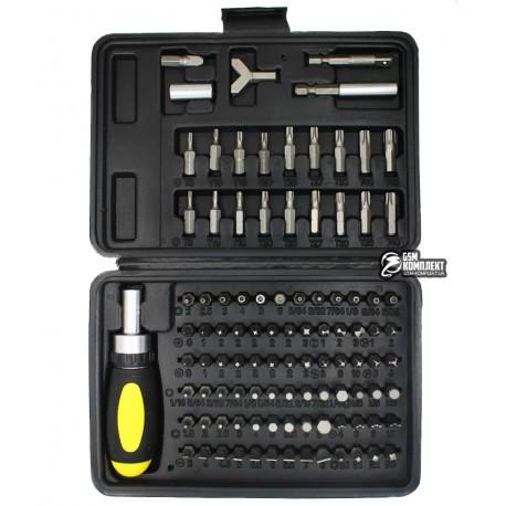 НаборотвертокSIGMA4002501,отверткасреверсомибитами,90бит,переходник,битодержатель,удлинитель2шт50мми25мм,бит