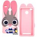 Чохол для Xiaomi Redmi 3s, 3D Кролик, рожевий колір