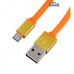 Кабель Micro USB, Ldnio LS09, плоский, 1 метр, 2.1A