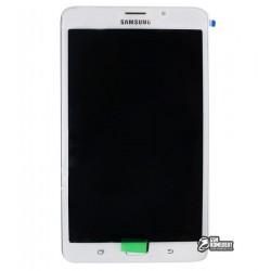 Дисплей для планшета Samsung T285 Galaxy Tab A 7.0 LTE, белый, с сенсорным экраном, с рамкой, original, #GH97-18756B