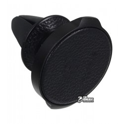 Автодержатель Baseus Small Ears Series Air Outlet Magnetic Bracket (Genuine Leather Type) Black