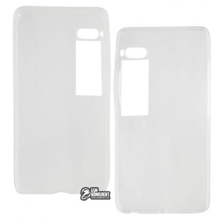 Чехол защитный для Meizu Pro 7 силиконовый, прозрачный