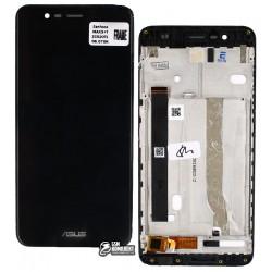 Дисплей для Asus Zenfone 3 Max (ZC520TL), черный, с сенсорным экраном, с рамкой