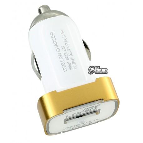 Автомобильное зарядное устройство Ldnio DL-DC219 c Micro USB 5V/2.1A, белое