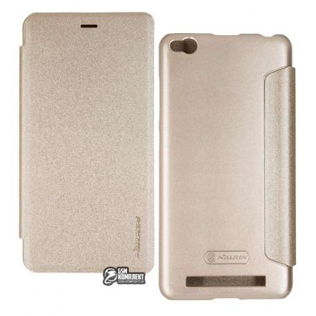 Чехол-книжка Nillkin Sparkle case Xiaomi Redmi 3 золотая