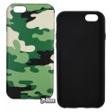 Чохол Camouflage TPU для iPhone 6 / 6S зелений колір