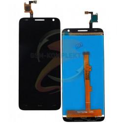Дисплей для Alcatel One Touch 6036 Idol 2 Mini S, черный, с сенсорным экраном (дисплейный модуль)