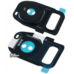 Стекло камеры для Samsung G930F Galaxy S7, G935F Galaxy S7 EDGE, черное