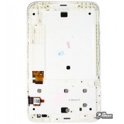 Дисплей для планшета Lenovo IdeaTab A1000, черный, с рамкой, с сенсорным экраном