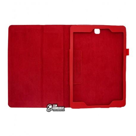 Чехол книжка для планшета Samsung T560 Galaxy Tab E 9.6, T561 Galaxy Tab E, T567, красная