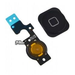 Шлейф для Apple iPhone 5C, черный, кнопки меню