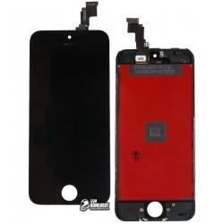 Дисплей iPhone 5C, черный, с сенсорным экраном (дисплейный модуль),с рамкой, original (PRC)