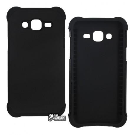 Чехол защитный для Samsung J500 Galaxy J5, J500F/DS, J500H/DS, J500M/DS, силикон+пластиковая рамка, черный