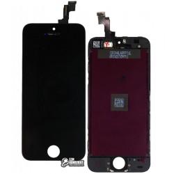 Дисплей iPhone 5S, iPhone SE, черный, с сенсорным экраном (дисплейный модуль),с рамкой, original (PRC)