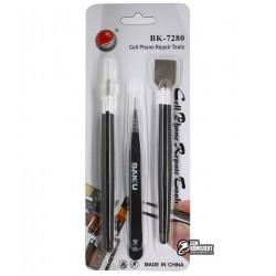 Набор инструментов BAKU BK7280-A для разборки корпусов (шпатель, скальпель, прямой пинцет)